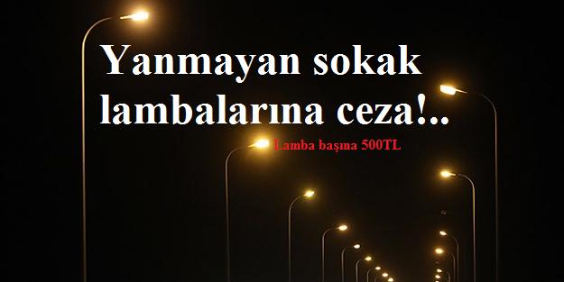 Yanmayan sokak lambaları
